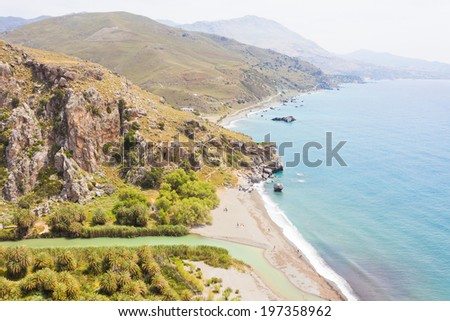Crete - Greece - Beach of Prevelhi - stock photo