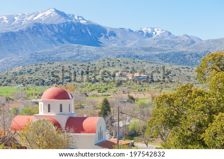 Crete - Greece - Church of Lassithi - stock photo