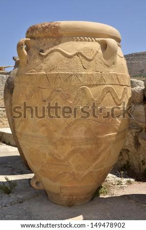 Crete, Greece - Knossos Palace - stock photo