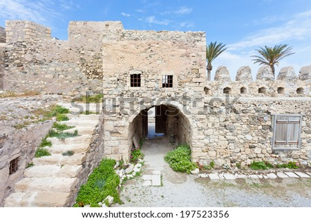 Crete - Greece - Venetian Fortress of Ierapetra - stock photo