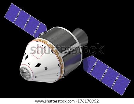Crew Exploration Vehicle. 3D Model. - stock photo