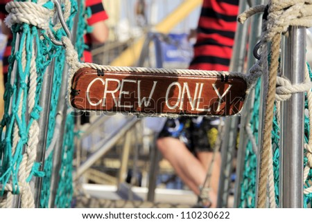 Crew only, details caravels - stock photo