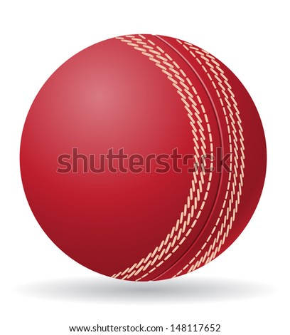 cricet ball illustration isolated on white background