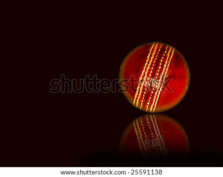 Cricket ball - stock photo