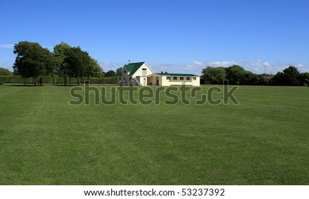 Cricket Pavilion - stock photo