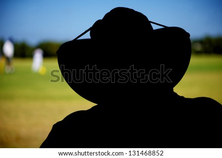 Cricket Score Keeper - stock photo
