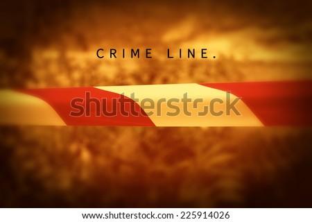 Crime line. Photo of a crime scene. - stock photo