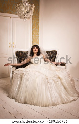 Crime scene of a corpse bride  - stock photo