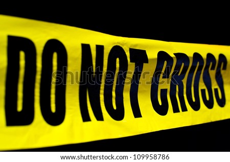 Crime scene police line do not cross - stock photo