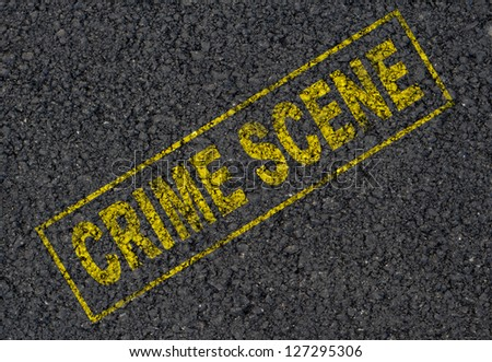 Crime scene sign background - stock photo