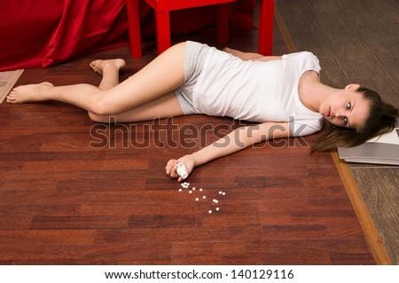 Crime Scene Simulation: Overdosed Victim Lying On The