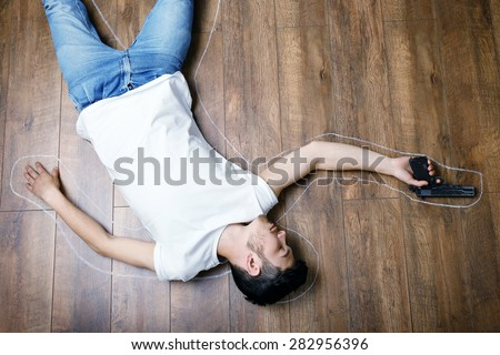 shirtless middle age man doing stomach stock photo