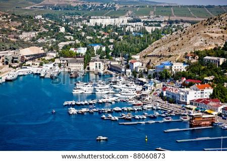 Crimea, Balaklava bay - stock photo