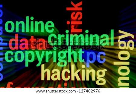 Criminal copyright hacking - stock photo