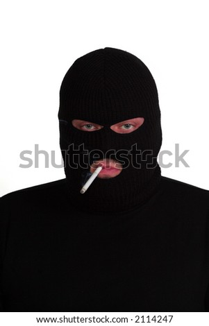 Criminal series 4 - conman smoking a cigarette