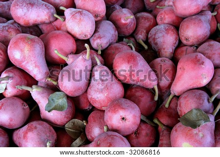 Crimson Pears from the Hood River Valley ,