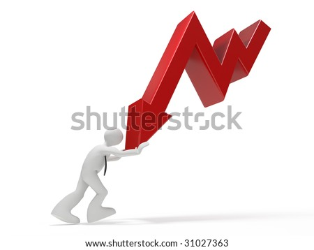 crisis diagram character - stock photo