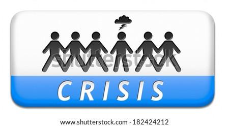crisis recession bank and stock crash economic and financial bank recession market crash icon or button - stock photo