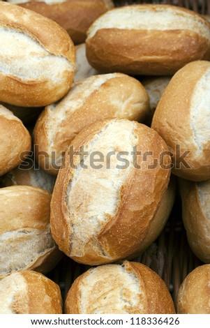 Crisp crusty golden bread rolls - stock photo