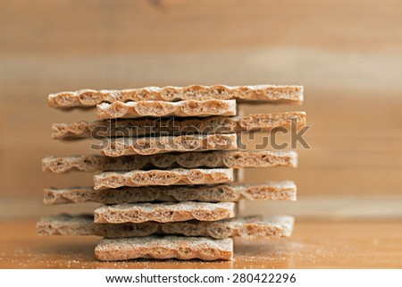 Crispbread closeup (7)  - stock photo