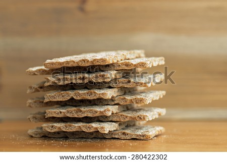 Crispbread closeup (9)  - stock photo