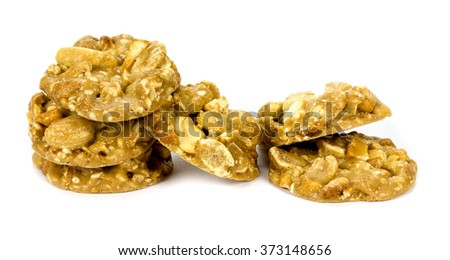 crispy pastry with cashew nuts and peanuts