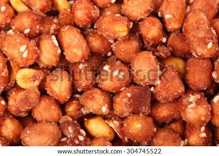 Crispy peanut   - stock photo