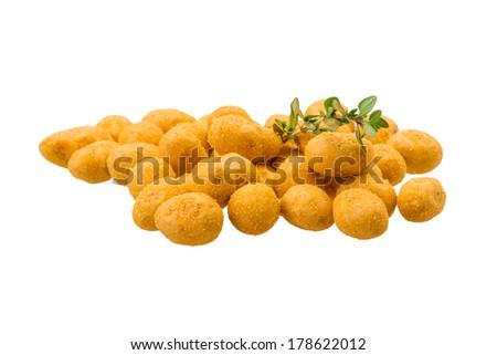 Crispy peanut isolated - stock photo