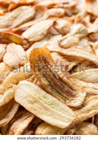 Crispy sliced banana chips - Thai snack