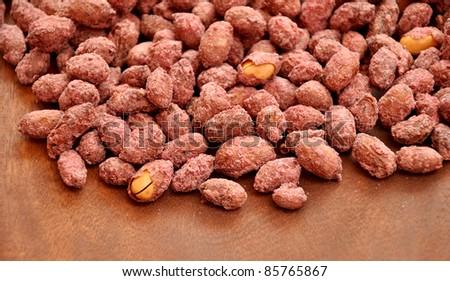 Crispy Sweet Peanuts - stock photo