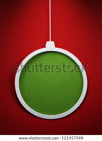 Cristmas decoration paper cutting design card.