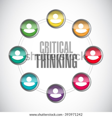 Critical Thinking people network sign illustration design graphic - stock photo