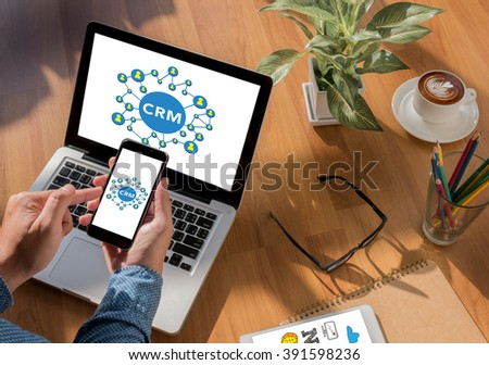 crm Business, technology, internet and networking - stock photo