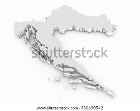croatia 3d map