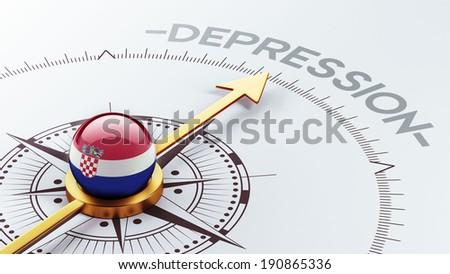 Croatia  High Resolution Depression Concept - stock photo