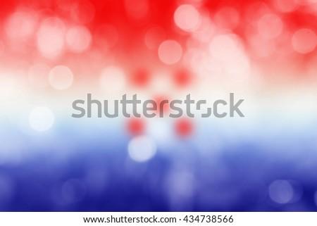 CROATIA : National flag. Soft blurred bokeh natural background. Abstract gradient desktop wallpaper.  - stock photo