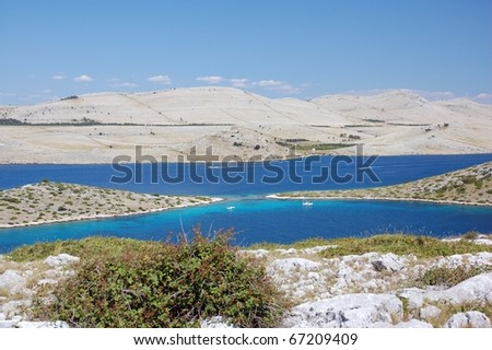 Croatian islands, national park Kornati - stock photo