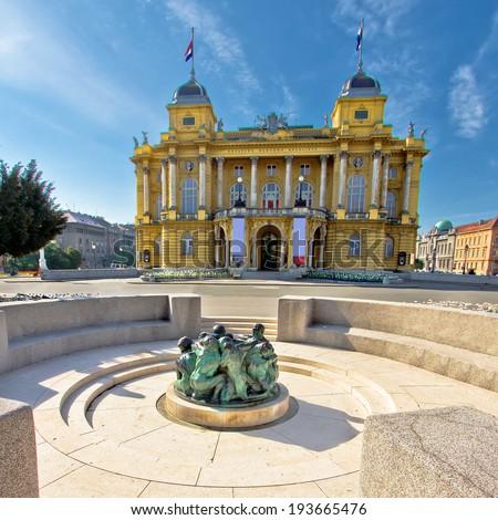 Croatian nationa theater in Zagreb, Croatia - stock photo