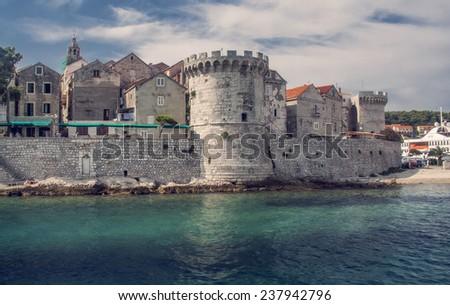 Croatian old town - stock photo