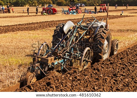 Crockey Hill York England 08 September 2016 Ferguson FE35 & Ransome RSLD  of Michael Watkins Rotherham S Yorks in National Vintage Ploughing Championship of the British Ploughing Championships