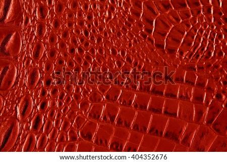 Crocodile red texture - stock photo
