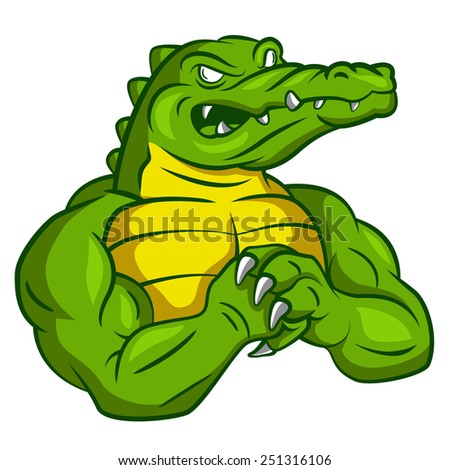 Crocodile Strong Mascot - stock photo