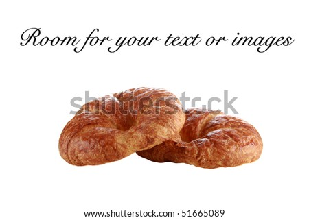 croissant isolated on white with room for your text or images