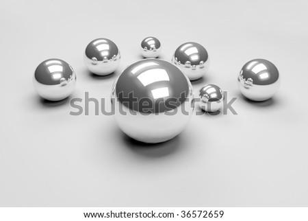crome balls - stock photo