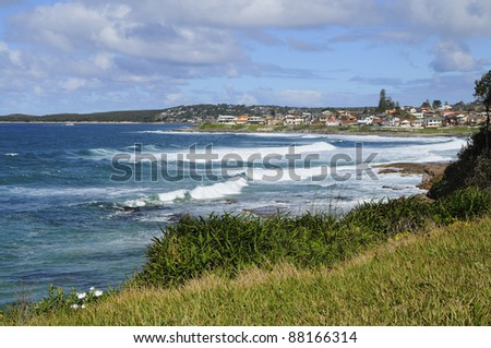 Cronulla beach and city, New south wales, Australia - stock photo