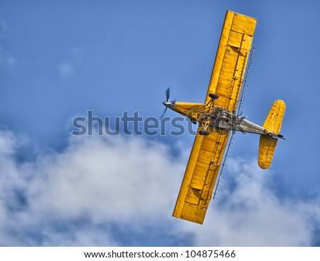 Crop Duster 02 - stock photo
