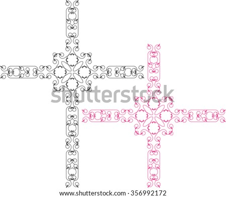 Cross Christian Design Raster Illustration
