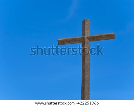 Cross mortar dark and bright sky