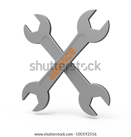 Cross of spanner as services concept - stock photo