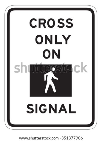 Cross only on green signal sign isolated on a white background - stock photo